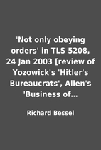 'Not only obeying orders' in TLS 5208, 24…