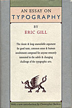 An Essay on Typography by Eric Gill