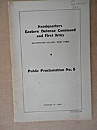 Headquarters, Eastern Defense Command and…