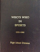 Who's Who in Sports 1991-1992 High School…