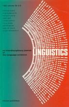 Linguistics 20 (1982) 3/4: 163-364
