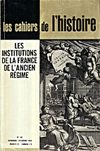 Les institutions de la France de l'ancien…