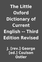 The Little Oxford Dictionary of Current…