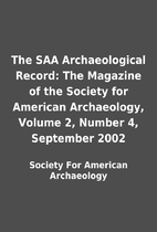 The SAA Archaeological Record: The Magazine…