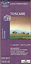 Toscane 1:250 000 (Carte touristique)