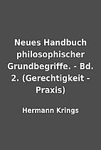 Neues Handbuch philosophischer…
