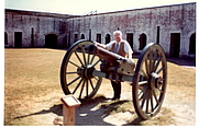 Author photo. At Fort Macon