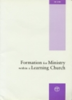 Formation for Ministry Within a Learning…