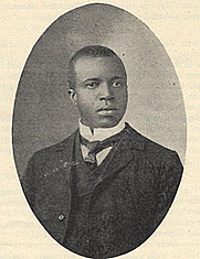 Author photo. [Portrait of Scott Joplin], taken from <i>American Musician</i> (June 17, 1907). Performing Arts Reading Room, Library of Congress.