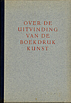 Over de uitvinding van de boekdrukkunst by…