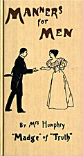 Manners for Men by Mrs. Humphry