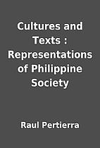 Cultures and Texts : Representations of…