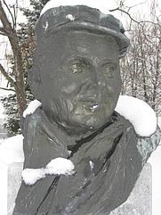 Author photo. Bust of Miško Kranjec, Velika Polana, Slovenia.  Photo by user Sl-Ziga / Wikimedia Commons.