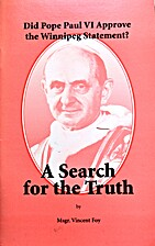 Did Pope Paul VI Approve the Winnipeg…