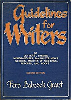 Guidelines for Writers by Fern Babcock Grant