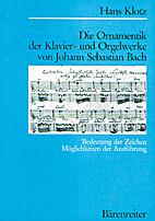 Die Ornamentik der Klavier- und Orgelwerke…