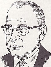 Author photo. Drawing by Gil Kane