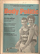 Body Politic (Issue #35) Anita Wins: Angry…