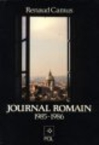 Journal romain, 1985-1986 by Renaud Camus