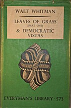 Leaves of Grass (Everyman's Library No. 573)…