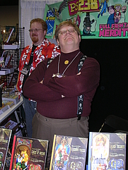 Author photo. Phil Foglio, taken by Alan De Smet at Gen Con Indy 2007