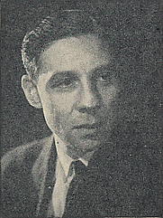 Author photo. Cropped scan of back cover of Penguin No.677. Photo attributed to Robin Adler