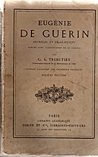 Journal et fragments by Eugénie de . Guerin