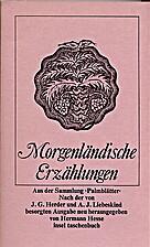 Morgenländische Erzählungen : aus der…