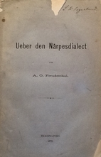 Ueber den Närpesdialect by Axel Olof…