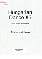 Hungarian Dance #5 for Two Violins and Piano…