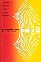 Linguistics 24 (1986) 1: 1- 285 [= Jürgen…