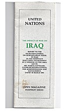 The Impact of War on Iraq. Report to the…