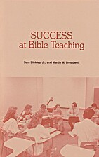 Success At Bible Teaching by Binkley