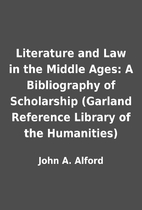 Literature and Law in the Middle Ages: A…