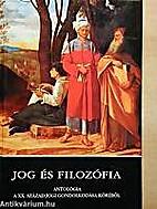 Jog és filozófia : antológia a XX.…
