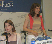 Author photo. Ruth Ellenson (left) with Caitlin Flanagan <br>at the 2007 LA Times Festival of Books <br>  Copyright © 2007 <a href=&quot;http://ronhogan.tumblr.com&quot;>Ron Hogan</a>