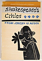 Shakespeare's critics; from Jonson to Auden…
