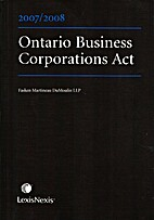 Ontario Business Corporations Act 2007/2008…