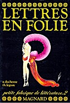 Lettres en folies by Thierry Leguay