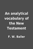 An analytical vocabulary of the New…