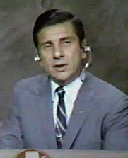 Author photo. Video capture of Jules Bergman reporting on Apollo 11 recovery, captured from ABC coverage of Apollo 11, July 24, 1969.