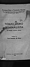 Tomás Moro, criminalista (su ideario…
