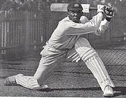 Author photo. Learie Constantine batting, <i>Sydney Mail</i> 26 November 1930.