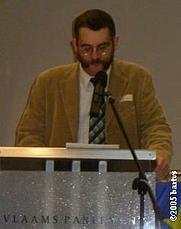 Author photo. Paul Belien (1959-) photograph by bartvs, Antwerpen, at Flemish Parliament, Brussels, December 17th, 2005.