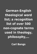 German-English theological word list; a…