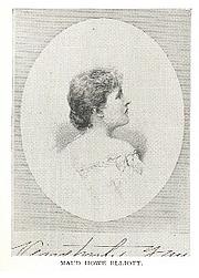 Author photo. Maud Howe Elliott (1854-1948) Buffalo Electrotype and Engraving Co., Buffalo, N.Y.
