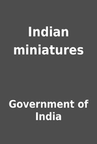 Indian miniatures by Government of India