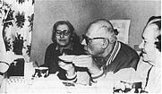 Author photo. Yelena Bonner (left), A.Sakharov and Sophia Kallistratova in Moscow, 1977
