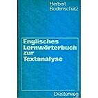 Englisches Lernwörterbuch zur Textanalyse…