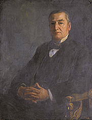 Author photo. Edward Denison Ross, 1922 [oil on canvas by John Lavery; source: Sotheby's]